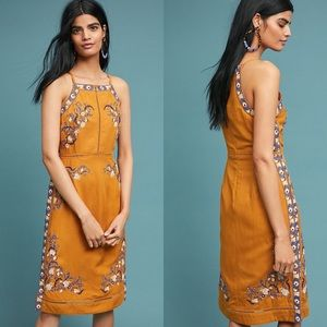 NWOT Anthro Akemi + Kin Embroidered Midi Dress